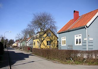 Enskedefältet - Typical houses in Enskedefältet (2008)