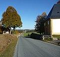 Es geht die Sage, dass das Baumaterial für die Wallfahrtskirche mehrmals Nachts heimlich vom Dorf an diesen Ort gebracht wurde. - panoramio.jpg