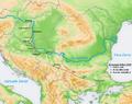 Estergon seferi harita Esztergom campaign map.png