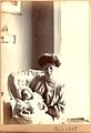 Ethel Hook and baby John, April 1907 (6634376537).jpg