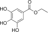 Structural formula of ethyl gallate