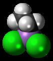 Ethyldichloroarsine molecule spacefill.png