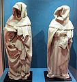 Etienne bobillet e paul mosselmann, coppia di dolenti in alabastro da tomba di jean de berry alla sainte chapelle di bourges (1416 ca.).JPG