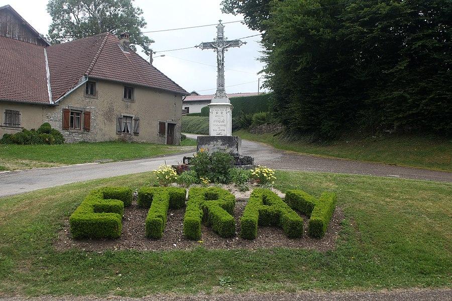 Croixà Étray (Doubs).