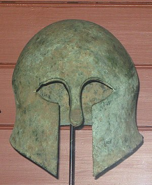 Military history of Italy - An Etruscan bronze helmet