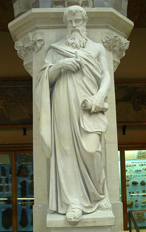 History of geometry - Statue of Euclid in the Oxford University Museum of Natural History.