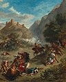 Eugène Delacroix - Arabes escarmouches dans les montagnes (1863).jpg