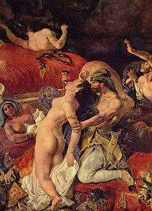 La Mort de Sardanapale (détail)d'Eugène Delacroix, (1827-28)
