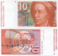 Euler-10 Swiss Franc banknote (front and back).jpg