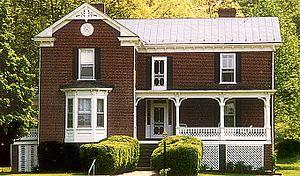 Evergreen (Rocky Mount, Virginia) - Evergreen house in July 2013