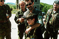 Serb militants in Sarajevo. Photo by Mikhail Evstafiev