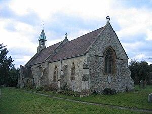 English: Exhall Church. This small church, ded...