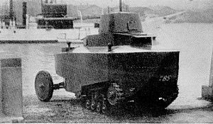 Type 92 Heavy Armoured Car - Experimental Amphibious Armored Car Sumida AMP during testing