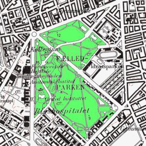 Øster Allé - Øster Allé seen on a map from 1967