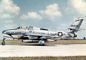 Un F-84F Thunderstreak dell'Ohio ANG.