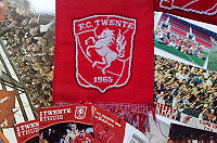 Football club FC Twente's banner and logo
