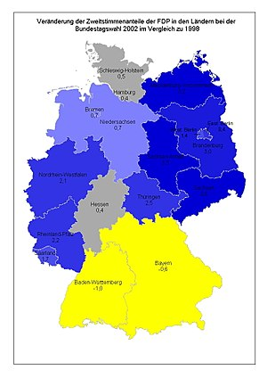 New states of Germany - Image: FDP Gewinn 2002