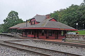 Cumberland and Pennsylvania Railroad - Frostburg station