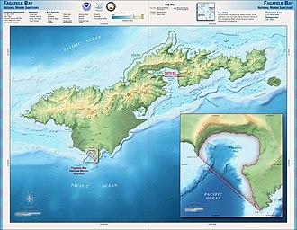 Tutuila - Map of Tutuila island.