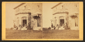 Family posing in front and in the balcony of stone house, from Robert N. Dennis collection of stereoscopic views 10.png