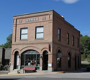 Eureka, Montana - Image: Farmers and Merchants State Bank at Eureka MT