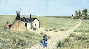 Fort Totten State Historic Site - Fort Totten trail, by Henry Farny