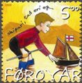 Faroe stamp 444 children's songs - skiparin litli.jpg
