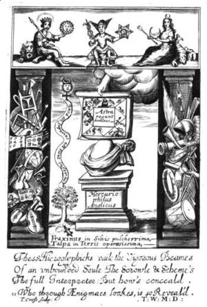 Fasciculus Chemicus - Frontispiece of Fasciculus Chemicus