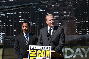 Kevin Faulconer - Faulconer and Todd Gloria at a San Diego Comic-Con event in 2014