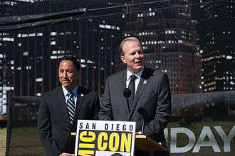 Todd Gloria - Gloria and San Diego mayor Kevin Faulconer at a San Diego Comic-Con event in 2014