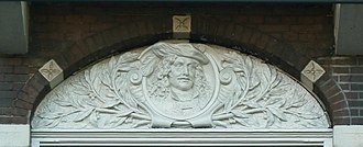 Ferdinand Bolstraat - Relief above a window at Ferdinand Bolstraat 49 depicting Ferdinand Bol, after whom the street is named