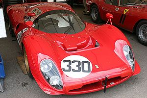 Ferrari P - 412 P 0844 at the 2007 Goodwood Festival of Speed.