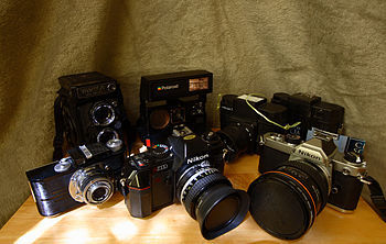 Film camera collection.