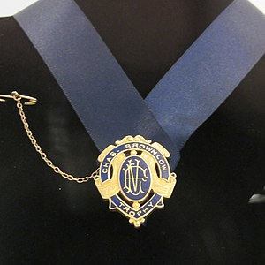 Brownlow Medal - The first Brownlow Medal, awarded to Edward Greeves, Jr. in 1924