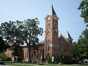 National Register of Historic Places listings in Eaton County, Michigan - Image: First Congregational Church Charlotte