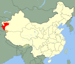 Location of the First East Turkestan Republic in China