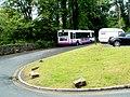 First bus waits in the Min-yr-awel turning circle, Pontneddfechan - geograph.org.uk - 3104212.jpg