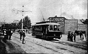Trams in Adelaide - First electric tram trial on 30 November 1908.