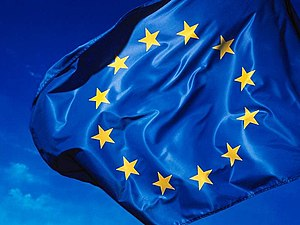 Symbols of the European Union - The flag of Europe, official flag of both the Council of Europe and the European Union.