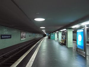 Berlin Brandenburger Tor station - Image: Flickr Ingolf BLN Berlin S Bahnhof Brandenburger Tor (44)