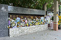 Floral Tributes for Victim beside Taipei Municipal Wenhua Elementary School Main Gate 20150603a.jpg