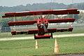Fokker Dr.I Manfred Richthofen Landing 10 Dawn Patrol NMUSAF 26Sept09 (14599285182).jpg