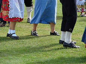Danish folk dance - Folk-dancing on the island of Rømø.