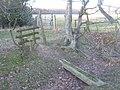 Footbridge and stiles near Butterfield Wood - geograph.org.uk - 1747908.jpg