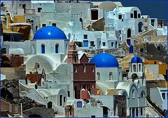 Byzantine blue - Greek blue, Santorini