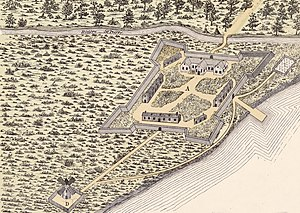 Fort Ville-Marie - Image: Fort Montreal 1645