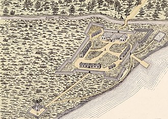 Fort Ville-Marie - Fort Ville-Marie in 1645