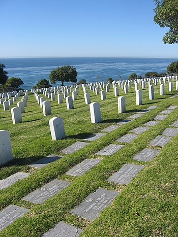 Fort Rosecrans National Cemetery in San Diego,...