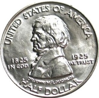 Fort Vancouver Centennial half dollar - Image: Fort vancouver half dollar commemorative obverse