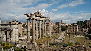 Roman Forum Archaeological site in Rome, Italy